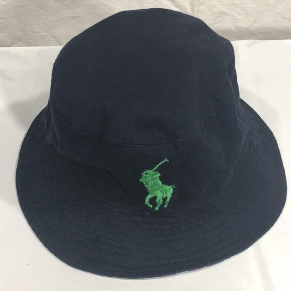 01c4ed6ed3f402 Men Polo Ralph Lauren Big Pony Bucket Hat One Sz. M_5a6649aa00450f42aff6b614